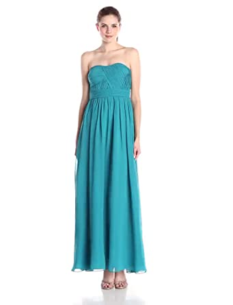 e2f260d2 Adrianna Papell Hailey Women's Strapless Solid Gown, Teal/Aqua, ...