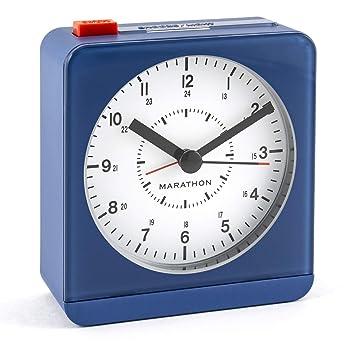 Marathon cl030052we Reloj de Mesa Reloj Digital Table Oro Rectangular: Amazon.es: Hogar