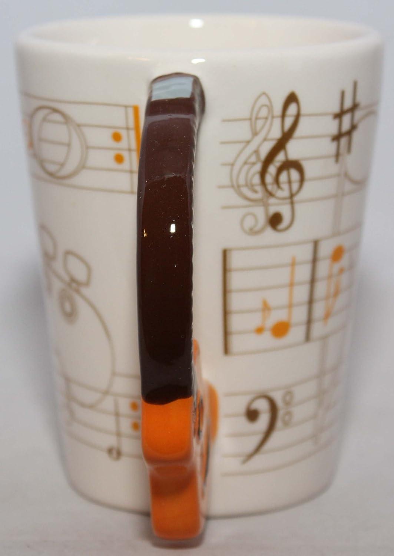 Puckator Tasse mit Griff Design Akustikgitarre und Notenblatt