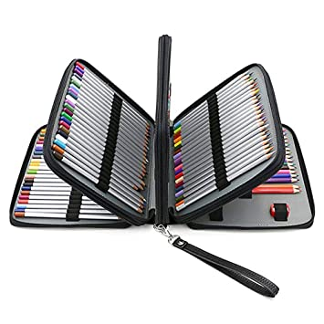 Estuche para lápices de 160 colores, de piel sintética, con ...
