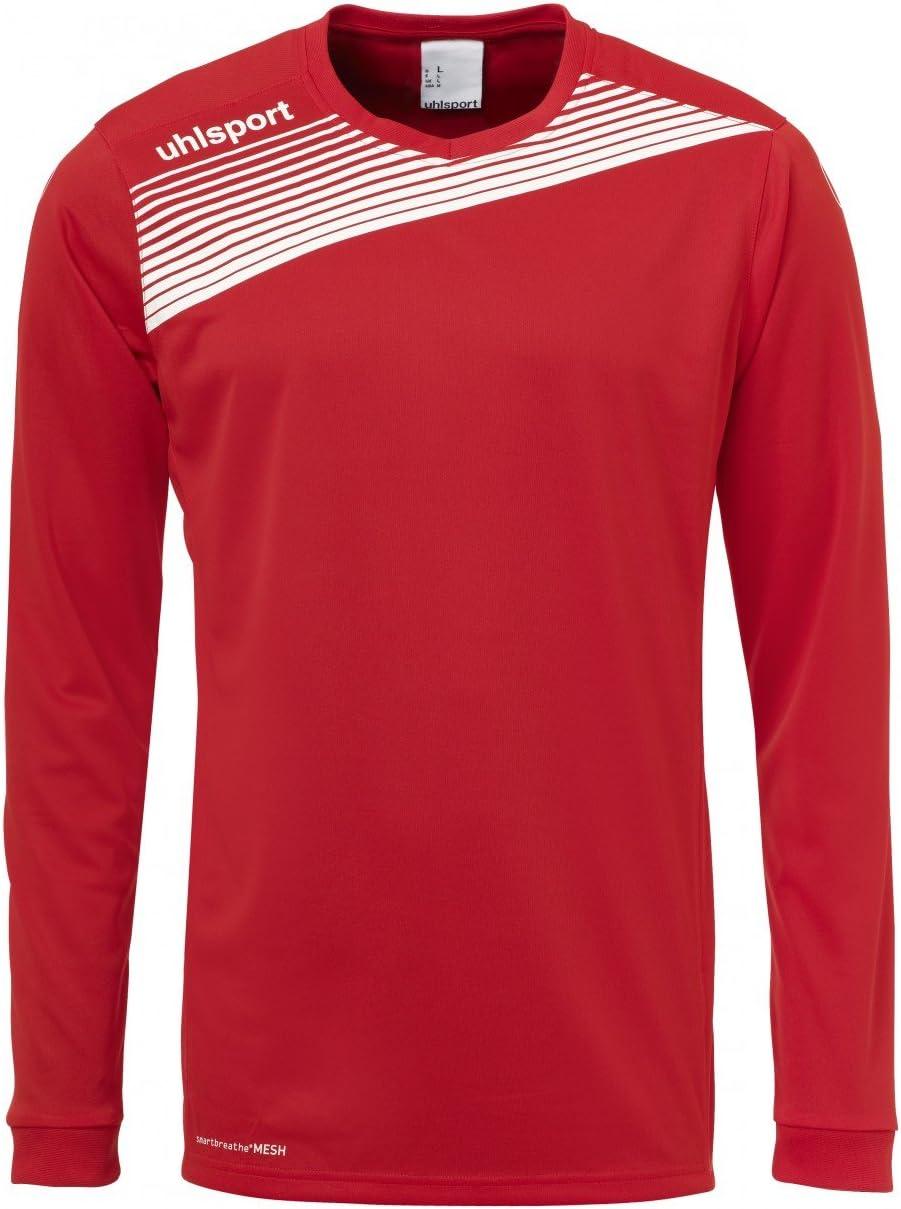 uhlsport Liga 2.0 de Manga Larga Camiseta - Rojo/Blanco, XXL: Amazon.es: Deportes y aire libre