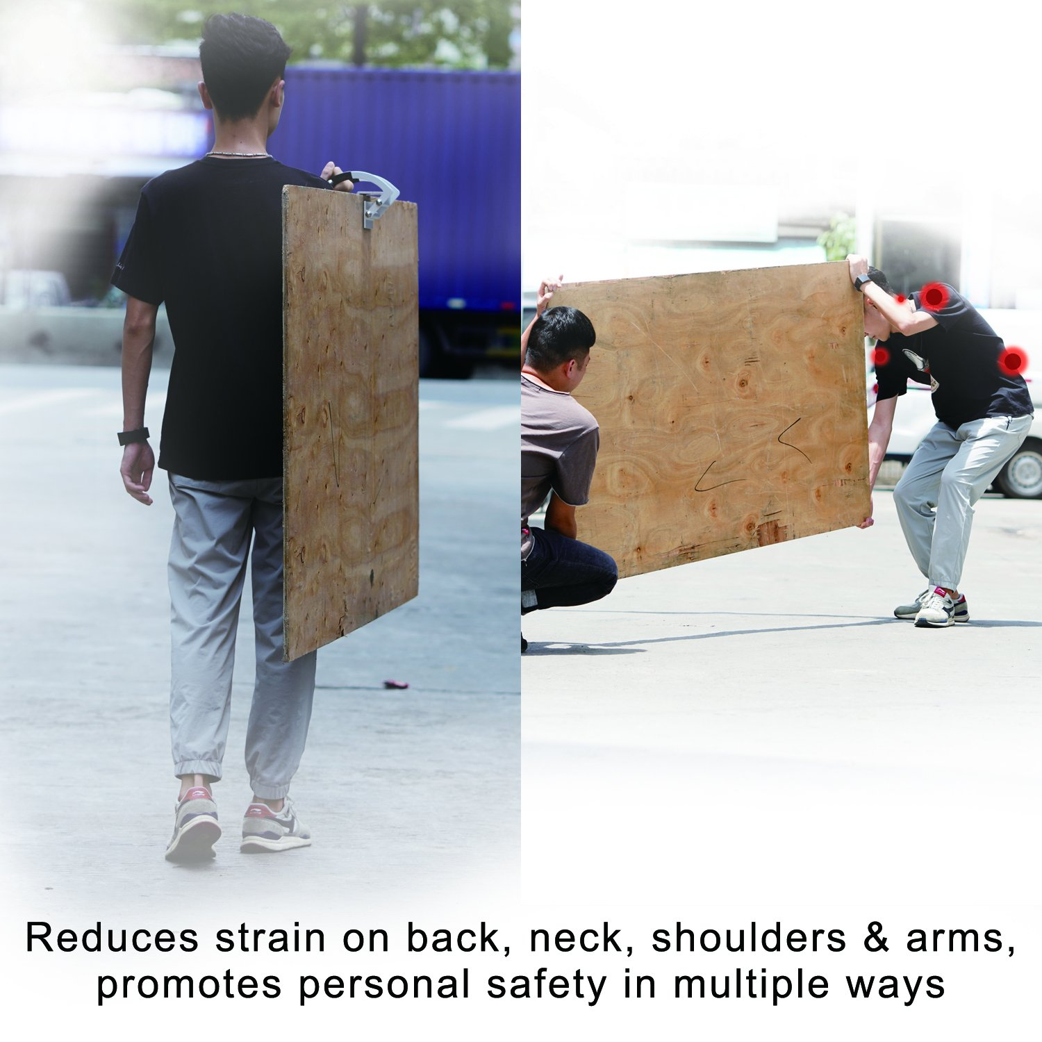 Single Heavy Duty Metal Gripper 0 to 1 1//8 Lift Plywood and Sheetrock Panel Carrier Sheet Goods Carry Handle