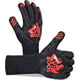 BBQ Gloves, 1472℉ Extreme Heat Resistant Grilling Gloves for Cooking, Baking and for Smoker, Silicone Insulated Cooking Oven