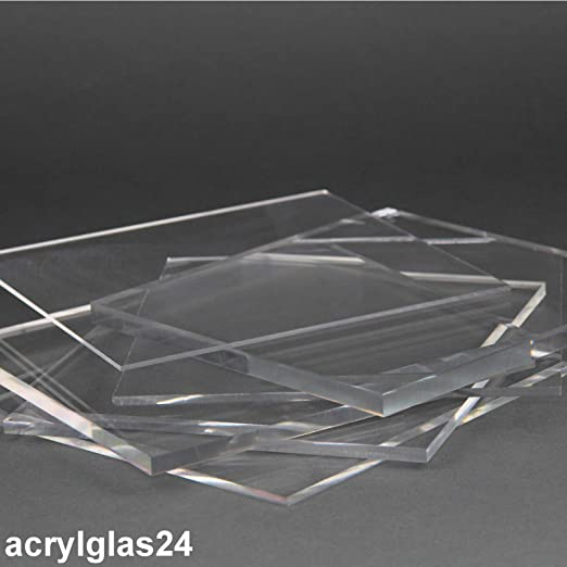 10 mm, 1000 x 400 mm Acrylglas Zuschnitt Plexiglas Zuschnitt 10-25mm Platte//Scheibe klar//transparent