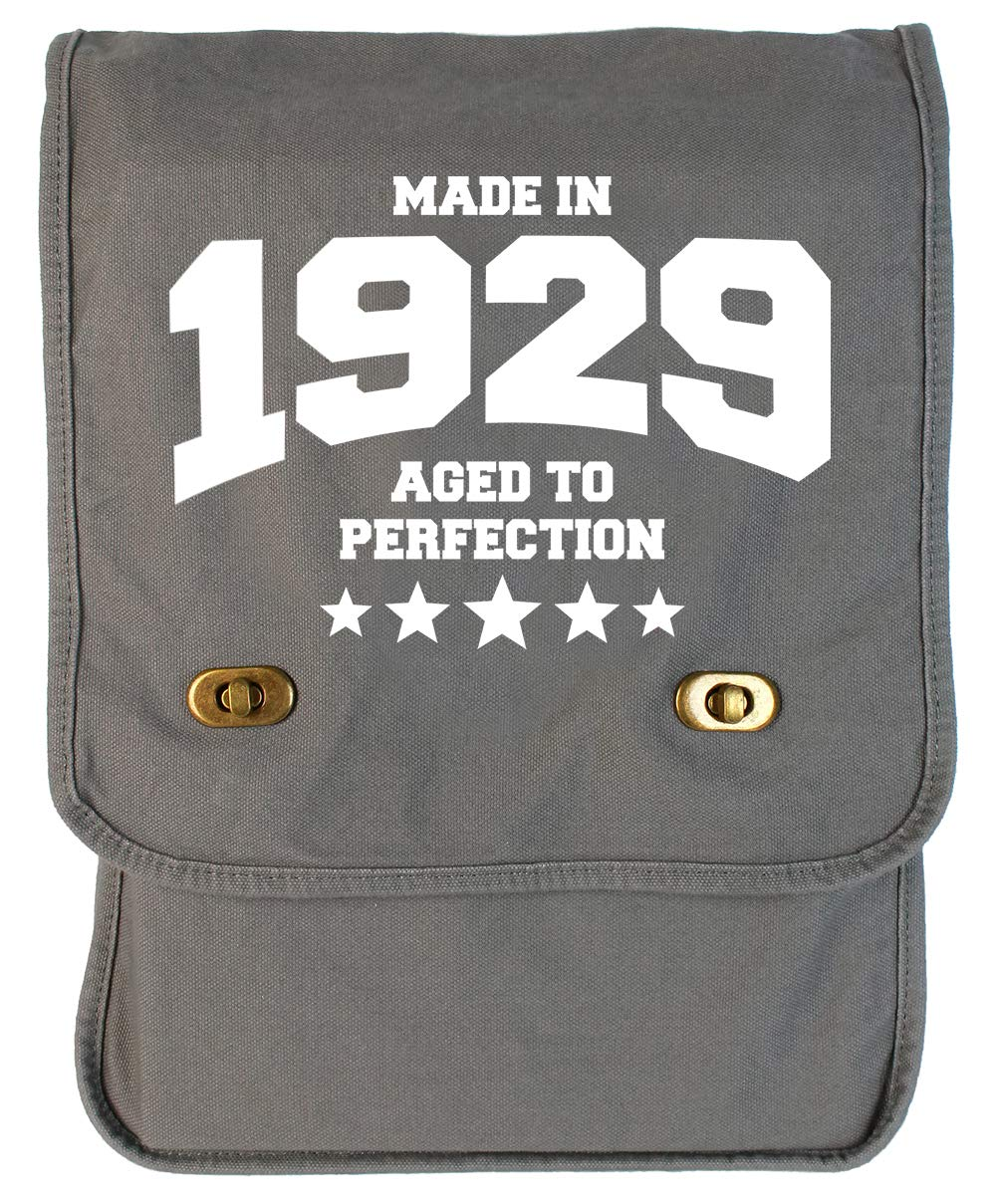 Tenacitee Athletic Aged to Perfection 1929 Grey Brushed Canvas Messenger Bag