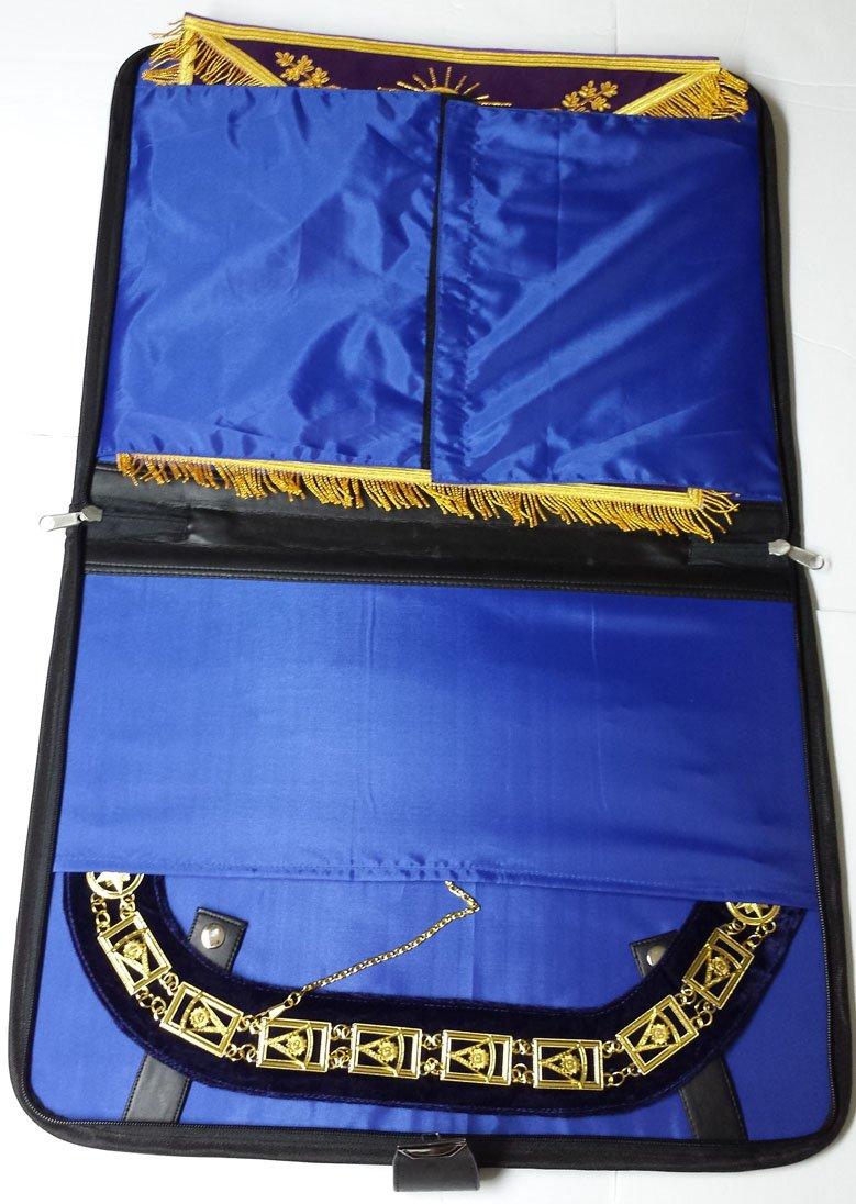 Masonic Regalia Apron & Chain Collar Case Deluxe Combination by Zest4Canada (Image #1)