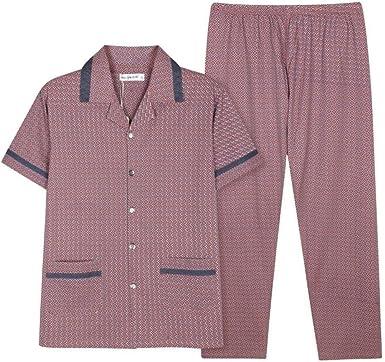 Pijamas para Hombre De Verano De Manga Corta De Algodón Warm Pijama Pantalones De Solapa Servicio A Domicilio Cómodo Pijama Traje Loungewear Ropa De Dormir: Amazon.es: Ropa y accesorios