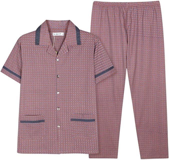 Pijamas para Hombre De Verano De Algodón Manga Corta De Pijama Pantalones Chic: Amazon.es: Ropa y accesorios