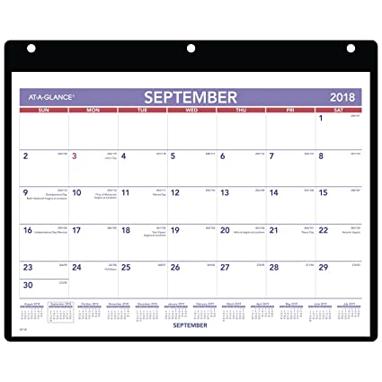 at a glance 2018 2019 academic year desk wall calendar small