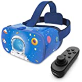 DESTEK VR Headset for Kids, 110°FOV Anti-Blue Light Eye Protected HD Virtual Reality Headset w/Bluetooth Controller for iPhon