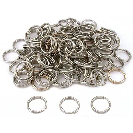 Amazon.com: Liroyal 100pcs Split clave Cadena Anillo ...