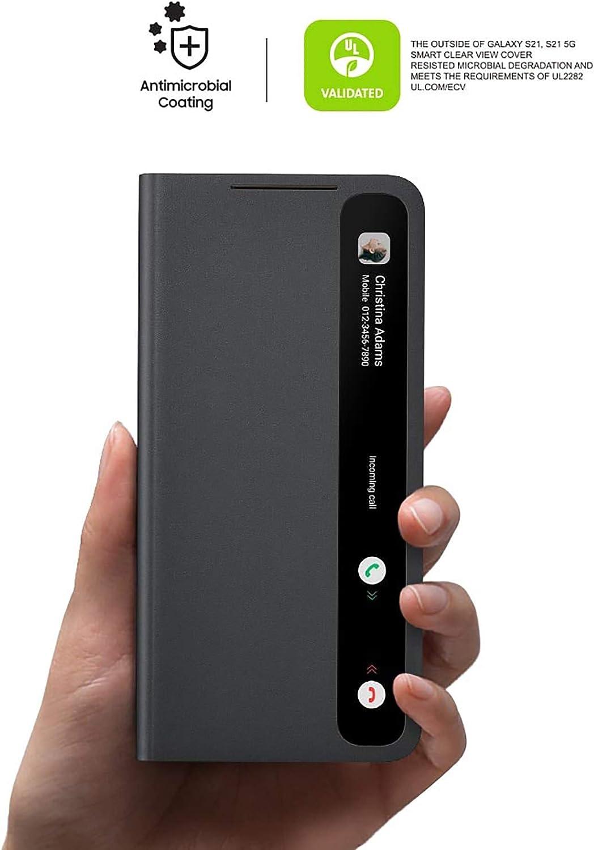 Samsung Clear View Cover Ef Zg991 Für Galaxy S21 5g Black Elektronik