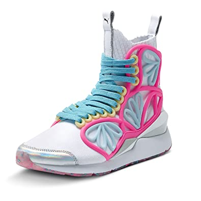 PUMA Women s Pearl Cage MID SW White 364708 01 (Size  ... a12838d5c