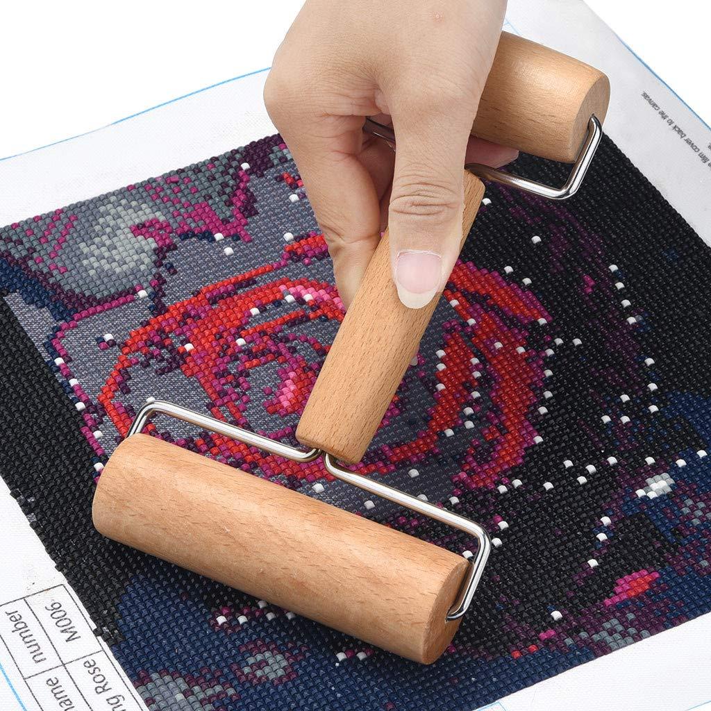 Sietore 5D Diamond Painting Tool Set Wood Roller DIY Diamond Painting Accessories for Diamond Painting Wood Roller(Yellow,18x11x6cm) by Sietore (Image #2)