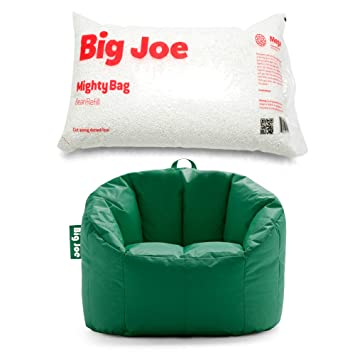 Outstanding At Products Corp Big Joe Milano 32 X 28 X 25 Bean Bag Chair In Elf Green Bundle With Big Joe Megahh Bean Refill 100 Liter Single Pack Cjindustries Chair Design For Home Cjindustriesco