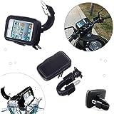 Soporte para teléfono móvil para moto impermeable sujeción fuerte DOS TAMAÑOS Universal (Iphone Samsung LG Sony Huawey ZTE etc) (Hasta 5,5 pulgadas)