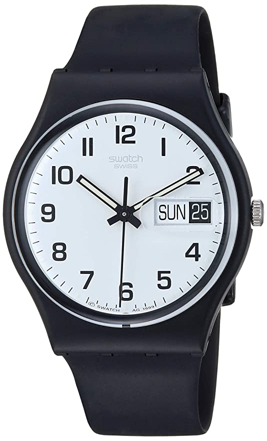 ea93ff9353f Amazon.com  Swatch Women s GB743 Once Again Black Plastic Watch  Swatch   Watches