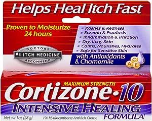 Cortizone 10 1z Healng Size 1z Cortizone 10 Intensive Healing Formula Anti-Itch Cream