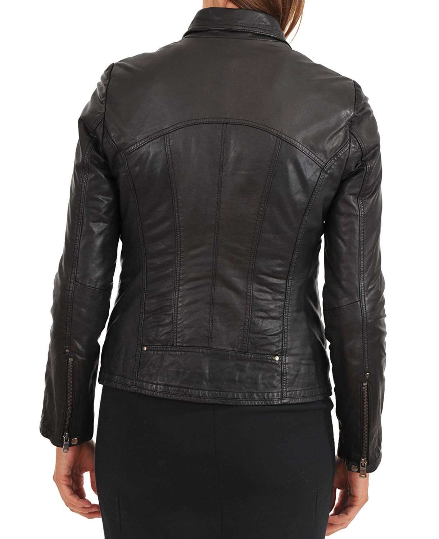 Womens Leather Jacket Stylish Motorcycle Biker Genuine Lambskin 194