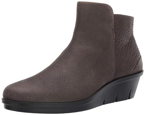 Ein Schickes Ecco Damen Schwarz Schuhe Stiefeletten Boots