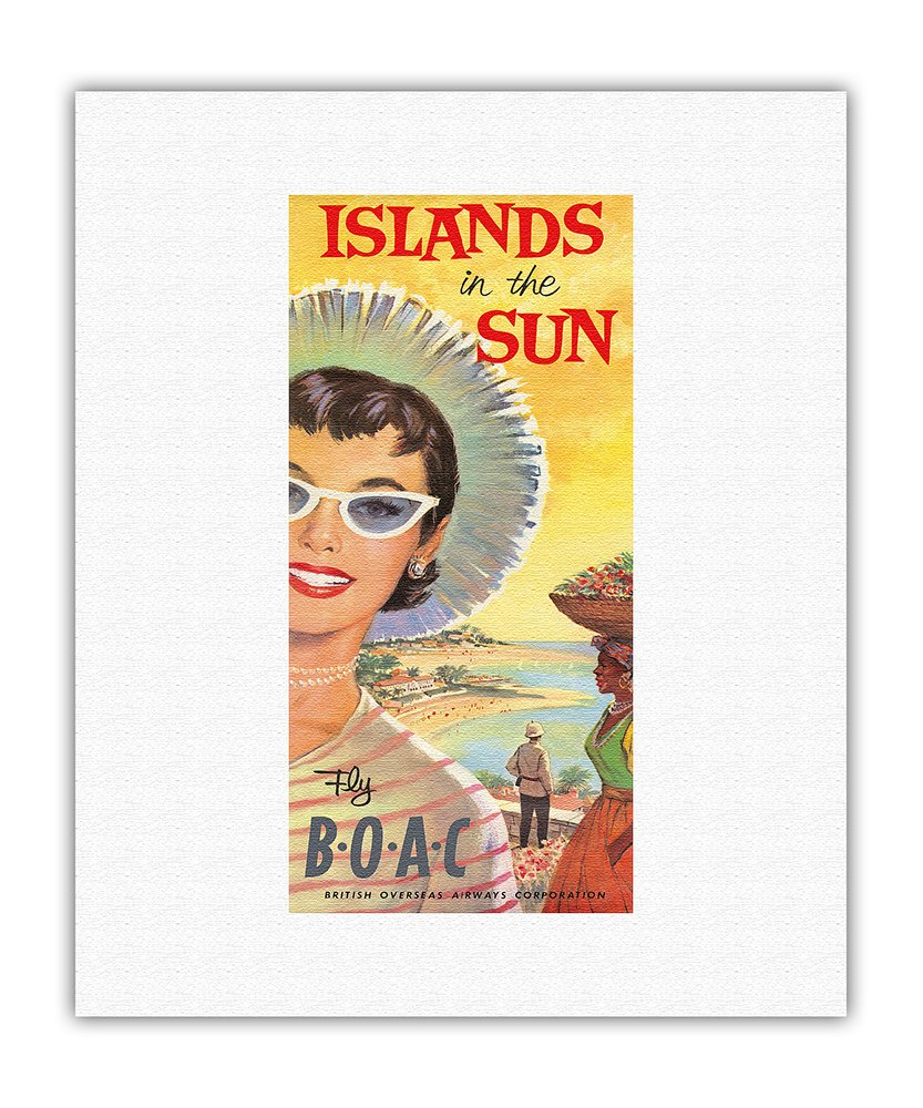 VINTAGE 1950s BOAC AIRLINE ADVERTISING BOOK COVER