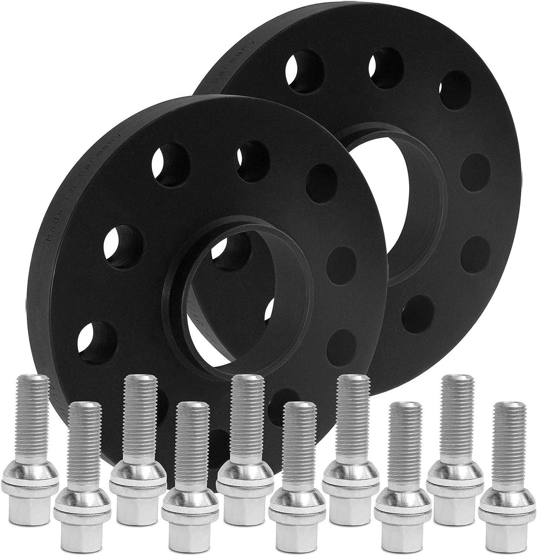 12436W/_1/_XV1415KU503 BlackLine Spurverbreiterung 40mm mit Schrauben silber 5x112 66,5mm 20mm