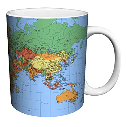 Amazon world map political traditional style decorative world map political traditional style decorative educational porcelain gift coffee tea cocoa 11 gumiabroncs Image collections