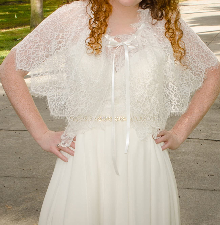 Wedding Dress Cover Up.Yurong Bridal Lace Capelet Wedding Lace Cape Cover Up Bridal Wrap C05