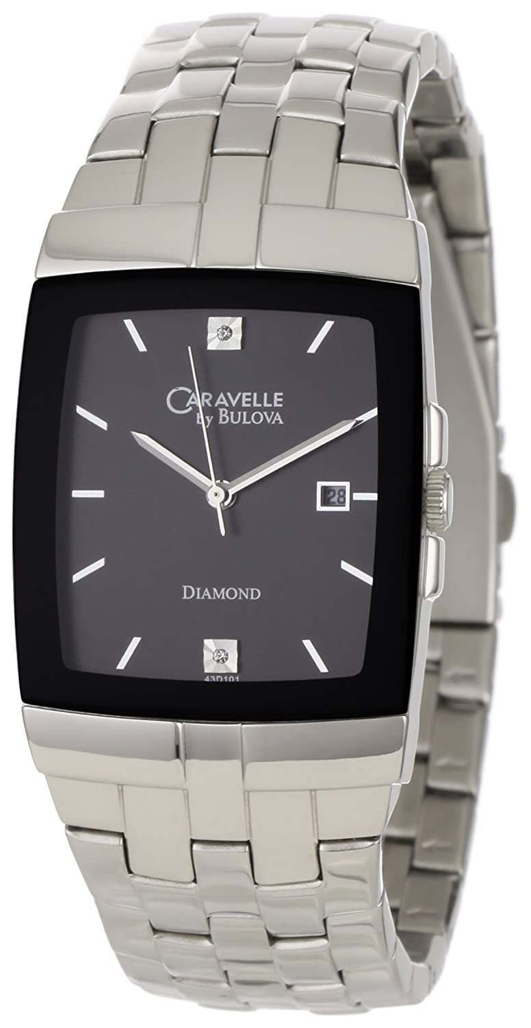 caravelle by bulova diamond mens watch 43d101 amazon ca watches