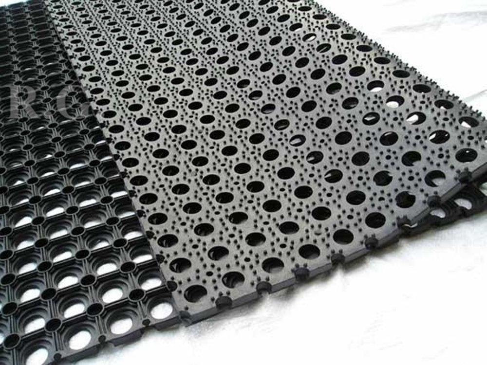 Gummimatte Schmutzfangmatte Ringgummimatte Ringmatte Verbinder 4 Gr/ö/ßen 40x60