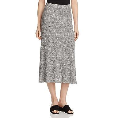 2840c618c Eileen Fisher Women's Flare Midi Tencel Pull-on Skirt in Silver (Black &  Gray