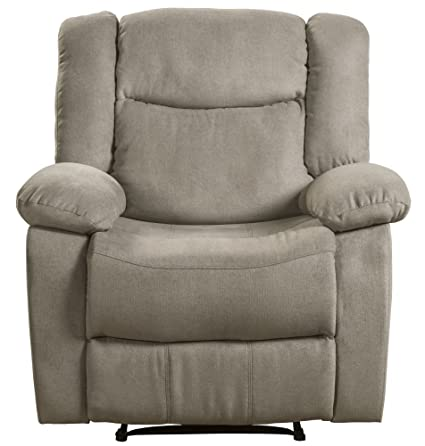 amazon com lifestyle power recliner fabric taupe kitchen dining