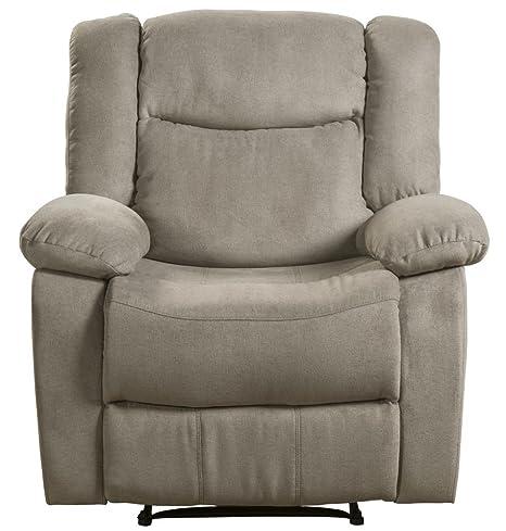 Pleasant Lifestyle Power Recliner Fabric Taupe Inzonedesignstudio Interior Chair Design Inzonedesignstudiocom