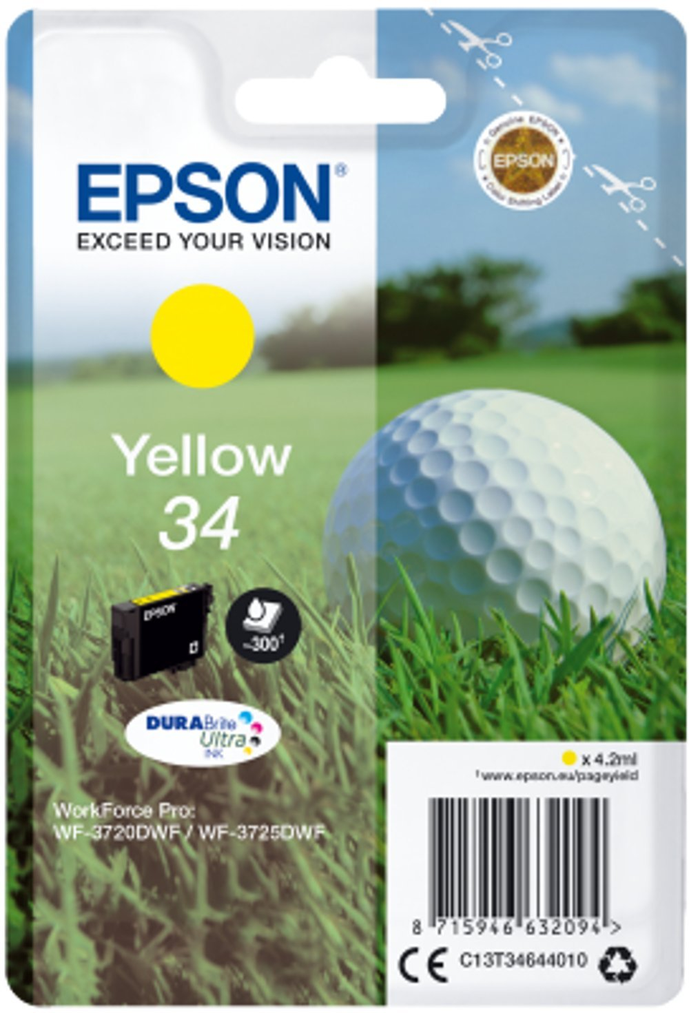Epson C13T34644010 Ink Cartridge - Yellow