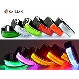 Kailian ® LED Armbänder Fahrradlampe Reflective Armband Wristband Blinklicht joggen Außen Schulweg Erwachsener Nacht Sicherheits Licht Reflektor Hundehalsband (6 Farben erhältlich)