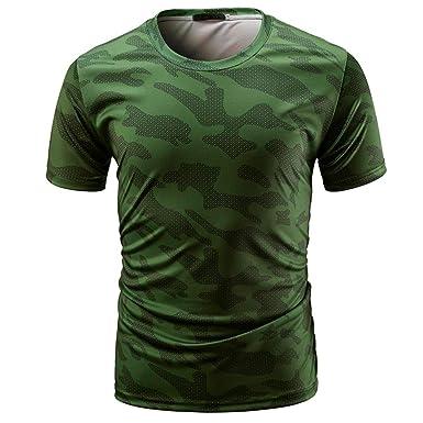 ZARLLE Tops De Camuflaje Casuales De Los Hombres, Hombres Casual Camiseta De Camuflaje Hombre Militares Camisetas Deporte Ropa Deportiva Camisa De