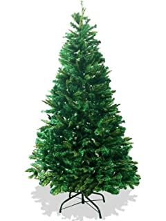 LavoHome 6 Feet 1200 Tip Branch Canadian Pine Frasier Fir Green Artificial  Plush And Full