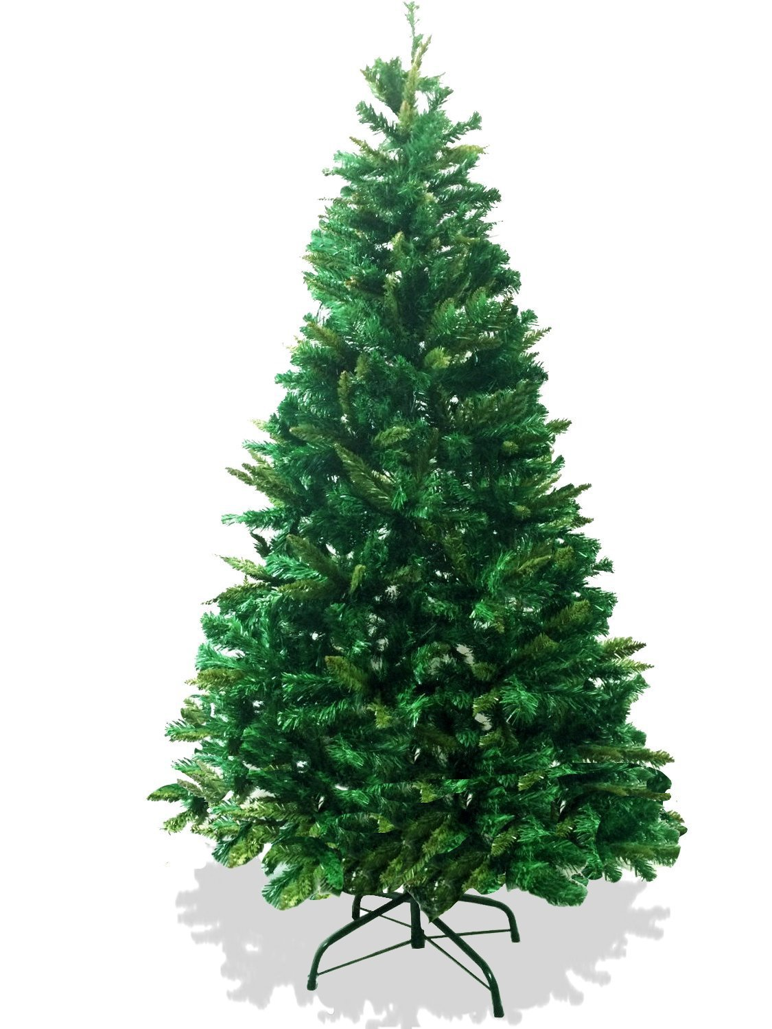 Artificial Christmas Tree Branches.6 Foot Premium 800 Tips Full Plush Branches Canadian Pine Frasier Fir Green Artificial Christmas Tree Plush Full Metal Tree Stand