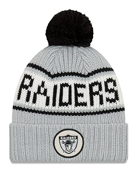 Image Unavailable. Image not available for. Color  New Era Oakland Raiders  NFL 9Twenty Historic Retro Patch Cuffed Knit Hat d065c7633
