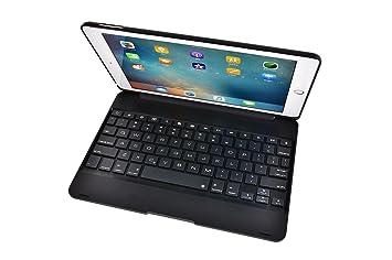 HAMOII - Teclado Bluetooth ultrafino con funda para iPad de 9,7 pulgadas, teclado Bluetooth portátil para iOS: Amazon.es: Instrumentos musicales