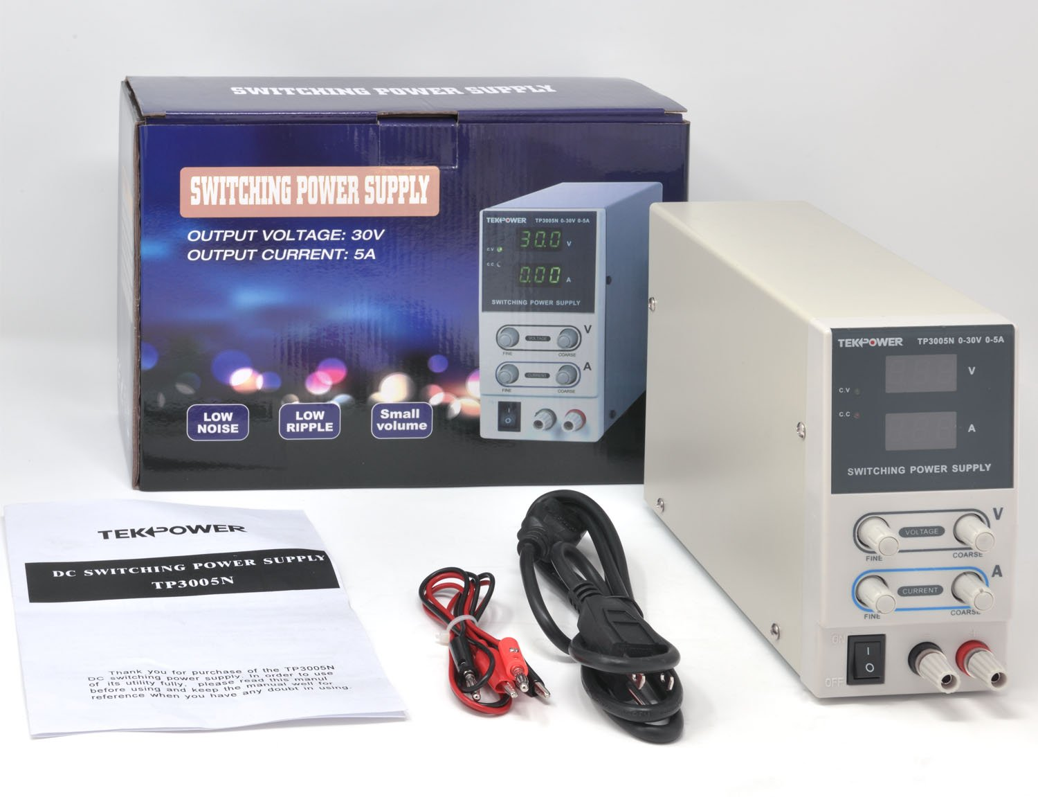 Tekpower Tp3005n Regulated Dc Variable Power Supply 0 30v At Supplies Switching 5a Industrial Scientific