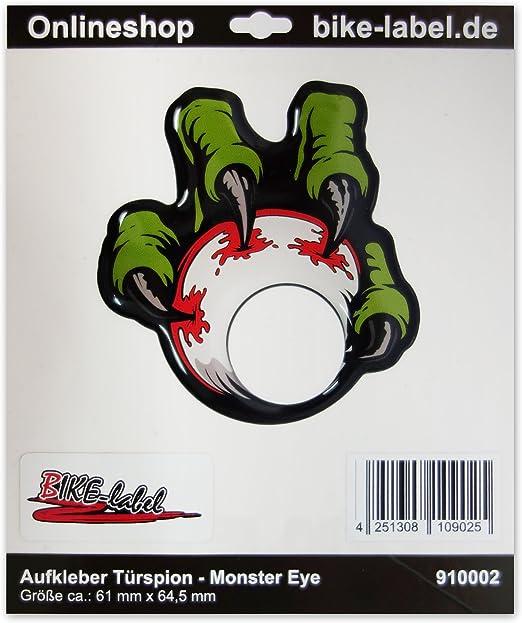 Pegatina para mirilla de puerta Fun-Aufkleber 3D 910002 dise/ño de monstruo