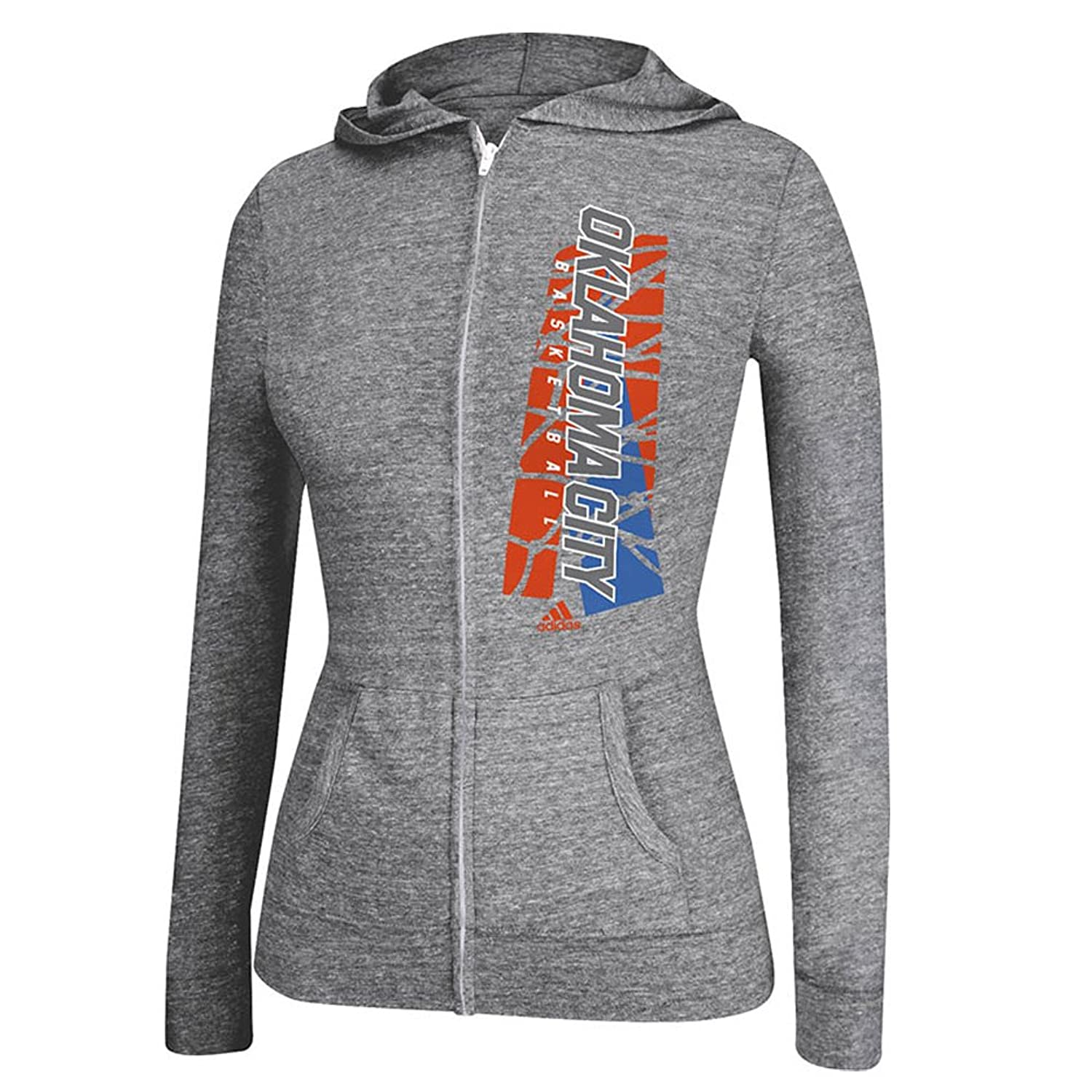 Adidas Women's Oklahoma City Thunder All Net Jacket Dark Grey Heather