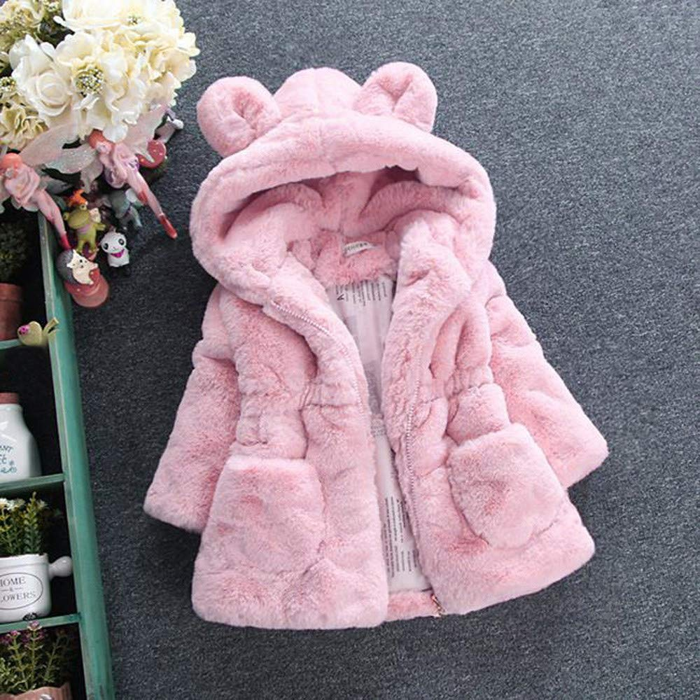 5142046acbd8c Amazon.com  💗 Orcbee 💗 Toddler Jacket Baby Infant Girls Autumn Winter  Hooded Coat Cloak Thick Warm Clothes Set 0-6T  Clothing