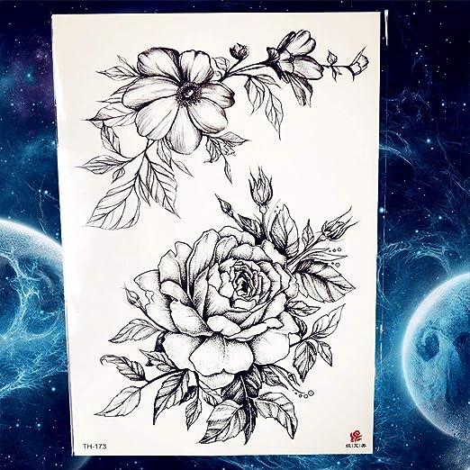 Zhuhuimin 5 unids Negro Mujer atrapasueños Tatuaje Arte Corporal ...