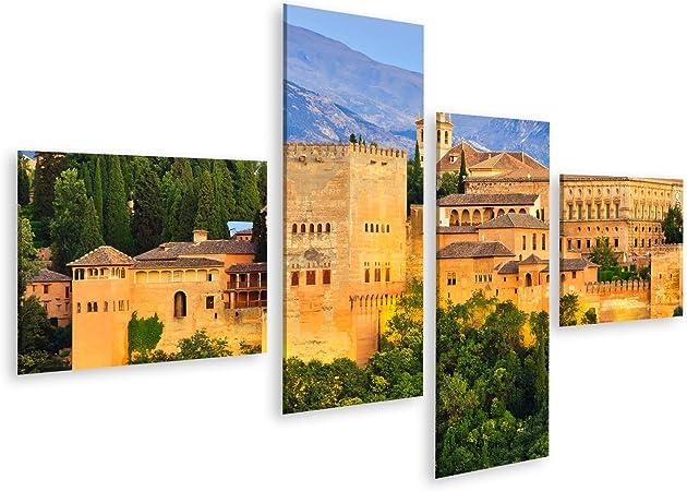 islandburner Cuadro en Lienzo Palacio de la Alhambra Granada España Cuadros Decoracion Impresión Salon: Amazon.es: Hogar