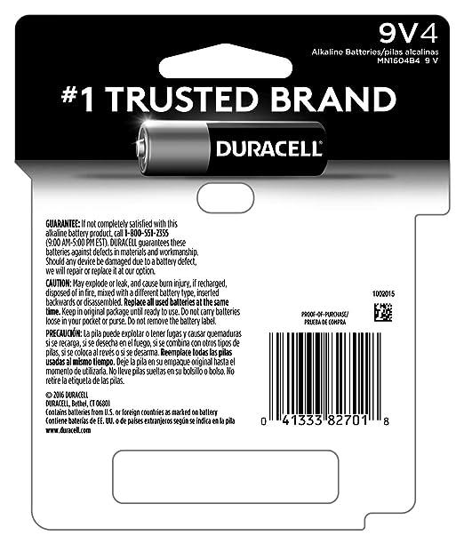 Amazon.com: Duracell CopperTop - Pilas alcalinas (9 V, 2 ...