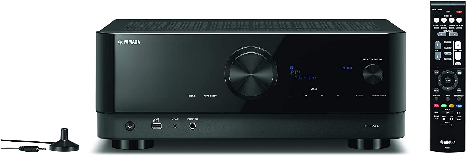 YAMAHA RX-V4A 5.2-Channel AV Receiver with MusicCast