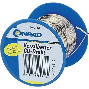 Kupfer-Draht Draht-Durchmesser 0.6 mm 100 m Conrad: Amazon.de ...