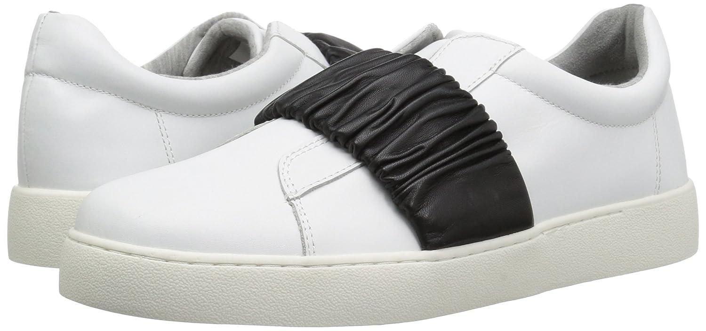 Nine West Women's Pindiviah Leather Sneaker B071ZSPLVY 8.5 B(M) US|White/Black Leather